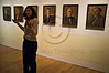 """Curator Eliad Moreh-Rosenberg speaks passionately of """"Last Portrait: Painting for Posterity"""" as exhibition is unveiled at Yad Vashem Holocaust Museum on the eve of International Holocaust Remembrance Day. Jerusalem, Israel. 22nd January 2012."""