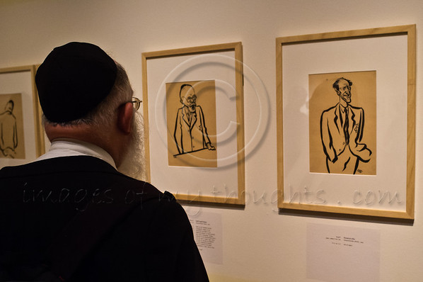 """On the eve of Int'l Holocaust Remembrance Day """"Last Portrait: Painting for Posterity"""" is unveiled at Yad Vashem Holocaust Museum presenting some 200 portraits drawn by 21 artists in the face of death. Jerusalem, Israel. 22nd January 2012."""