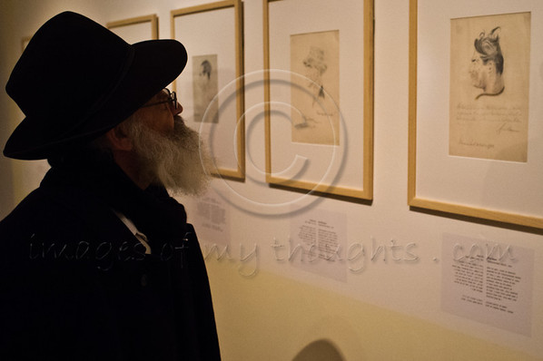 """Exhibition, """"Last Portrait: Painting for Posterity"""", opens at Yad Vashem in the presence of the diplomatic corps and Holocaust survivors presenting some 200 portraits drawn by 21 artists in the face of death. Jerusalem, Israel. 23rd January 2012."""
