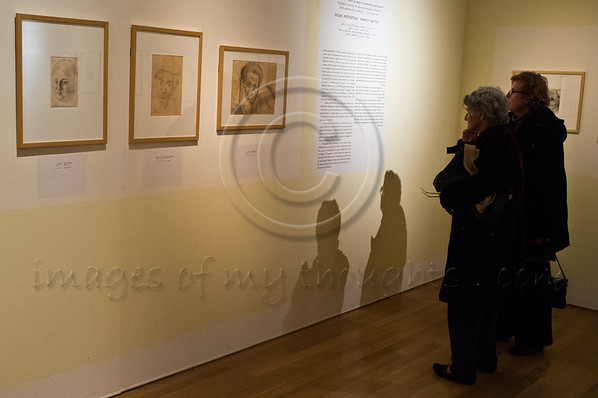 "Exhibition, ""Last Portrait: Painting for Posterity"", opens at Yad Vashem in the presence of the diplomatic corps and Holocaust survivors presenting some 200 portraits drawn by 21 artists in the face of death. Jerusalem, Israel. 23rd January 2012."
