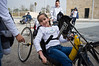"A young girl tries out a hand-powered bicycle in a workshop lead by MK Moshe ""Mutz"" Matalon, of the Yisrael Beitenu party, as thousands of Israelis visit the Knesset for an Open House birthday celebration. Jerusalem, Israel. 8th February 2012."