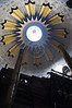 The Dome of the Rotunda towers over the Edicule as thousands of Christian pilgrims and believers flock the Church of The Holy Sepulchre on Ash Wednesday. Jerusalem, Israel. 22-Feb-2012.