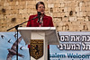 Deputy Mayor Naomi Tsur addresses guests at a welcoming ceremony for thousands of swifts returning from South Africa to nest in the Western Wall as spring and breeding season arrive. Jerusalem, Israel. 12-Mar-2012.