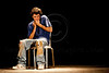 """Amateur actor Ron Paldi portrays Hefetz in a Boyar high school students' production """"Hefetz"""" by play writer Hanoch Levin (1943-1999). Hefetz deals with relationships based on humiliation and degradation. Jerusalem, Israel. 14-Mar-2012."""