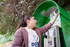 A young student paints a public telephone booth in one of 48 projects carried out in the city, with a record number of 6,000 volunteers, on 'Good Deeds Day' in a national project that encourages work for the community. Jerusalem, Israel. 20-Mar-2012.