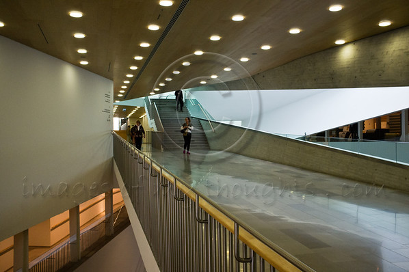 The Tel Aviv Museum of Art recently doubled its exhibition space with a new building by American architect Preston Scott Cohen. On 'Art Weekend' the museum hosts a 24-hour marathon. Tel-Aviv, Israel. 22-Mar-2012.