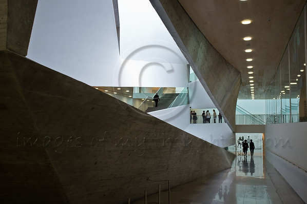 "The Tel Aviv Museum of Art recently doubled its exhibition space with a new building by American architect Preston Scott Cohen. On 'Art Weekend' the museum hosts a 24-hour marathon. Tel-Aviv, Israel. 22-Mar-2012.<br /> <br /> Tel-Aviv – Yafo Municipality press release, February 2012:<br />  <br /> Art Weekend launches Tel Aviv's Art Year with major art<br /> projects transforming the urban landscape of the non-stop city<br /> Tel Aviv Art Weekend 21st to 25th March 2012<br /> <br /> 2012 is a pinnacle in Tel Aviv's cultural life, with the completion of 3 major construction and renovation projects of the city's cultural institutions: The Tel Aviv Cinematheque, Habima National Theatre and the Tel Aviv Museum of Art, which doubled its exhibition space with a new building by American architect Preston Scott Cohen. To mark this milestone, Mayor Ron Huldai declared 2012 as Art Year.<br /> <br /> Tel Aviv Art Weekend will be the launching event of Art Year, and will encapsulate the creative spirit of Tel Aviv by engaging its art museums and 100 of the city's independent galleries and alternative spaces with main cultural centers. The city will radiate creativity as Tel Aviv's famous restaurants, cafes and bars will also engage with this general atmosphere of art. Mayor Ron Huldai says: ""Since its founding, the city of Tel Aviv-Yafo has been identified by its art and culture, with the Tel Aviv Museum of Art functioning as the beating heart of the city's art community; the museum's first exhibition space was the living room of the city's first Mayor, who believed that the city should not only create infrastructure but also lay down the foundation for creation"".<br /> <br /> Key events over the weekend of March 21 - 25, 2012 will include:<br /> <br /> - Non-Stop Museum, March 22 - March 23<br /> A 24-hour marathon at the Tel Aviv Museum of Art starting Thursday 4pm, will<br /> include talks, panel discussions, art tours, dance, video-art screenings and a special<br /> exhibition.<br /> Highlights at the Non-Stop Museum:<br /> - ""8-Cubic Meters"": As part of the Art Year initiatives, the Tel Aviv Museum of<br /> Art announced an open-call for artists whose work has not yet been exhibited at<br /> the museum. 15 artists were selected by a professional committee and each will<br /> exhibit a piece that fits within the dimensions of 8-cubic meters.<br /> - ""Land of Promise"" - contemporary Israeli Video Art: This one screen<br /> exhibition presents a selection of 24 video artworks by 19 Israeli artists. The<br /> works chosen for this exhibition are ones of Israeli reference. When edited<br /> together into one 90-minute piece, they portray a mosaic of views and present<br /> moments of grace, of bursting beauty and meditation, human reality and<br /> landscapes. Curator: Hagit Peleg-Rotem.<br /> - Gaga at the Tel Aviv Museum of Art:A<br /> dance style that is getting the world on its feet, developed by Ohad Naharin, the world renowned choreographer and Artistic Director of Batsheva Dance Company. Gaga lessons will be given at the museum in cooperation with the dance company.<br /> - Indie City: A series of video clips documenting bands performing unplugged<br /> will be screened in the museum. The musicians are active in the flourishing Tel<br /> Aviv music scene and were filmed in different locations around the city which<br /> illustrates Tel Aviv's role as a creative force for musical creativity.<br /> <br /> ""Street Art"" – Contemporary art on buildings throughout the city, March 21<br /> A Contemporary art exhibition will present the artwork of young Israeli artists in<br /> large format prints on central buildings in Tel Aviv. The exhibition is initiated and<br /> produced by BARAM City Press.<br /> <br /> Launch of Tel Aviv Art Tours, March 21<br /> Art tours focusing on different topics will enable the public to become better<br /> acquainted with the scores of art initiatives taking place in the city. The Association<br /> for Tourism Tel Aviv-Yafo will operate the tours, which will include Urban<br /> Photography, Women artists, poets, actresses & their life in Tel Aviv, Contemporary<br /> Art and South-Side Graffiti & Street Art.<br /> <br /> ARTFI – The Fine Art & Finance Conference, March 21<br /> The conference will focus on the financial aspects of art, which in recent years has<br /> become an alternative and increasingly popular option for investment. ARTFI invites<br /> the public to experience the passion of collecting art, and to become acquainted with<br /> the latest financial tools available for investing in art.<br /> <br /> ""aMUSEment Park"" (Mazeh Bayit) – Emerging Artists Live-in project,<br /> Private view March 22<br /> The title translates to ""What is a house?"" a question that resonates through this art<br /> project. For three weeks a group of selected artists will live in a house on 9 Mazeh<br /> Street in the Historical Center of Tel Aviv. Through the process of leading a domestic<br /> life together and providing a space to freely act, think, explore and create, these<br /> artists will slowly transform 9 Mazeh into their home. While living in this space,<br /> artists will have the opportunity to invite colleagues, converse with people from the<br /> art and culture scene, and chronicle the process of discussing and imagining the<br /> meaning of ""home."" By the conclusion of the month, the artists will prepare a series<br /> of sculptures and performances, which will be presented during Tel Aviv Art<br /> Weekend under the title of ""Mazeh aMUSEment Park.""<br /> <br /> Art Year opening event, at the Tel Aviv Museum of Art Concourse, March 24<br /> This event spotlights the dynamic relationship between the worlds of technology and<br /> art, which also reflects the vibrant character of Tel Aviv as a city. Artists and<br /> performers have proposed a series of works that connect visual art to music,<br /> interactive design, conceptual architecture, live performances, sound, animation and<br /> computer programming. This multi-media gala will be displayed Saturday evening at<br /> the concourse situated between the new wing of the Tel Aviv Museum of Art, the<br /> Cameri Theatre and the Israeli Opera House. Visitors will walk through these<br /> interactive artworks, and as such will become a dynamic participant in the exhibition.<br /> <br /> Europe Capitals of Culture Salute Tel Aviv-Yafo, March 25<br /> Directors from various European Capitals of Culture (ECOC) will convene in Tel Aviv<br /> for a weekend that will afford them first-hand acquaintance with the art and culture<br /> scene in the city. The guests will be exposed to the events of Art Weekend and to the<br /> unique projects instituted during Art Year. At the end of their visit, the directors will<br /> share best practices in the field of urban art, and will discuss various strategies to<br /> enable culture in the public sphere.<br /> For additional information and images please contact:<br /> Jacob Peres, Jacob@jacobperes.com, +972 50 630 4101<br /> Niva Navon, nniva@netvision.net.il, +972 52 329 2226<br /> For a full list of Art Year events:  <a href=""http://www.artyear.co.il"">http://www.artyear.co.il</a><br /> NOTES TO THE EDITOR<br /> <br /> Tel Aviv Art Year - additional key events throughout the year:<br /> <br /> Fresh Paint Contemporary Art Fair Tel Aviv: May 14 – 19, 2012<br /> Fresh Paint Contemporary Art Fair is Israel's largest, most influential annual art event. The Fair attracts over 30,000 visitors each year, who enjoy presentations of the nation's top galleries, promising emerging galleries and the unique Greenhouse which showcases the works of select, independent, emerging Israeli artists.<br />  <a href=""http://www.freshpaint.co.il"">http://www.freshpaint.co.il</a><br /> <br /> Houses from Within: May 18 – 19, 2012<br /> Over 100 homes that have special architectural value will be open to the public free-of charge, offering dozens of tours and discussions about architecture, preservation and the public space. Designer lofts, urban villas, unique synagogues, architectural landmarks and significant public buildings, will all be open to visitors. As a special feature of Tel Aviv Art Year, homes where some of Israel's most important and influential artists lived will also open to the public, as well as private homes with unique art collections.  <a href=""http://www.batim-il.org"">http://www.batim-il.org</a><br /> <br /> White Night: June 28, 2012<br /> UNESCO proclaimed the historic zone of Tel Aviv, also known as The White City, as a<br /> World Cultural Heritage Site in 2003. To pay tribute to its unique urban and historical fabric, The Municipality holds a large-scale annual all-night festival. White Night is celebrated with cultural institutions open until sunrise and 100 different cultural and artistic happenings throughout the city.<br /> <br /> Loving Art Making Art: September 6 – 8, 2012<br /> Loving Art Making Art launches Tel Aviv's new exhibitions' season, with three days of art activities in collaboration with some 60 galleries, museums, exhibition halls, and 240 local artists who open their studios to the public. Additionally, street exhibitions and commissioned works are presented on the opening night and artists' groups offer special events on this unique weekend.<br /> <br /> Gay Pride Week: 1 – 8 June<br /> Art-related activities will pay tribute to Gay Pride Week and highlight various topics that are on the community's agenda. The main event will be on June 8th with the Gay Pride Parade, when huge crowds and processions paint the city streets a rainbow of colours.<br /> <br /> Tel-Aviv Pixel Hotel: 15 October, Bugrashov Beach<br /> Who hasn't fantasized about spending a few hours or an entire night in a lifeguard tower on the Tel Aviv beach? Next winter it will be possible to make this dream come true thanks to an art project named Pixel Hotel, in the course of which a lifeguard tower will be converted into a hotel room open during the winter months.<br /> <br /> About Tel Aviv–Yafo - The city in Numbers<br /> el Aviv–Yafo's population is slightly over 400,000. Tel Aviv-Yafo's greater<br /> metropolitan area is home to over 3 million people.<br /> One third of the city's residents are under the age of 35.<br /> Over 5% of the city's budget goes to art.<br /> Tel Aviv–Yafo is famous for its 1748 bars, pubs, cafes and restaurants, 1 for every<br /> 220 residents.<br /> Tel Aviv-Yafo is a center of Art: 1.5 million people visit the city's 16 museums<br /> each year. The Tel Aviv Museum of Art displays the world's largest collection of<br /> Israeli art, as well as classic masterpieces; The Helena Rubinstein Pavilion<br /> specializes in modern art; several historical museums reveal the rich history of<br /> the city and its environs; and over 100 private galleries and exhibition spaces<br /> present cutting-edge Israeli art.<br /> Tel Aviv–Yafo is a center of Festivals: Over 40 annual festivals attract hundreds<br /> of thousands of participants. The festival themes range from food to classical<br /> music, beer to open-air dancing, visual arts to opera, and even an annual<br /> Hummus event!<br /> Tel Aviv-Yafo is a center of Theatre: 2 million tickets are sold for local<br /> performances each year. 75% percent of theater ticket sales in Israel are for Tel<br /> Aviv's theaters.<br /> Tel Aviv–Yafo is a center of Sports and Recreation: The city enjoys over 120<br /> kilometers of bicycle routes, dozens of parks and gardens, 220,000 trees and 14<br /> kilometers of very beautiful beaches.<br /> Tel Aviv-Yafo is a center of Music: The city is home to the Israel Philharmonic<br /> Orchestra, the Israeli Opera, the Israeli Chamber Orchestra and dozens of bands<br /> and musical groups.<br /> Tel Aviv–Yafo is a center of Dance: the city's many dance troupes include the<br /> Israeli Ballet and the internationally acclaimed Batsheva Dance Company.<br /> <br /> White City<br /> In 2003, UNESCO, the United Nations Educational, Scientific and Cultural<br /> Organization, proclaimed the historic zone of Tel Aviv, also known as The White City, as a World Cultural Heritage site. By this proclamation, the world recognized the special architectural qualities of the buildings, streets, squares and avenues of Tel Aviv. The White City is the world's largest grouping of buildings in the International Style, also known as Bauhaus. About 4,000 buildings were constructed in this style in the 1930s and 1940s. The buildings of The White City were designed by European Jewish architects, who had studied in, or were influenced by, the Bauhaus School in Germany. When the Nazis rose to power, they shut down the school; many of its students and professors left Germany – a considerable amount of them moved to the young city of Tel Aviv. This group created a new architectural language, which is rich and diverse, characterized by its asymmetry, functionality and simplicity. The balconies, building pillars, flat roofs and ""thermometer"" windows became the trademarks of the city. These buildings reside in a unique zone, planned by the famous Scottish urban planner Sir Patrick Geddes. At a first look, houses in the International Style seem like white cubic buildings with little ornamentation. Yet a close observation of the fine details reveals the characteristics of the style and, of course, a focus on functionality and simplicity. The best way to experience the White City is by walking down and around Rothschild Boulevard, where many of the buildings have been restored to their original glory.<br /> <br /> Tel Aviv Global City<br /> <br /> Tel Aviv-Yafo is currently leading Tel Aviv Global City - a municipal and national<br /> initiative aimed at elevating the city's global standing. The main target of the initiative is to position the city as a global business center with an emphasis on technology and innovation, and as a global culture center.<br /> <br /> Israel is known internationally as the Startup Nation and Tel Aviv as the beating heart of the Nation's extraordinary innovation scene . Greater Tel Aviv has emerged as a national center of technological companies and services, and a creative hub for entrepreneurs of all sorts. The Tel Aviv Global City initiative is a 10-year process that will result in a global leap of the city's centrality, attractiveness and relevance to become a sort of ""Silicon Valley"" for companies outside the US.<br /> <br /> Launched in 2011, the initiative includes dozens of projects: the city will seek to attract young start up entrepreneurs from around the world, global financial institutions and international corporations; will market its local cultural assets to international markets; will focus on enhancing the various foreign communities in the city, including students, business people and international visitors; will promote the filming of international television and film productions; will upgrade its tourist performance; and will implement various social and educational programs for local residents in the spirit of global values.<br /> The Global City Initiative is spearheaded by the Tel Aviv-Yafo Municipality, in<br /> partnership with the Israeli Government and 10 ministries, the nation's major financial institutions (The Bank of Israel, Israel's Security Authority, The Tel Aviv Stock Exchange), major academic institutions, and various public and private entities.<br /> +++"