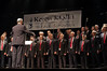 The Ramatayim Men's Choir, conducted by Richard Shavel Tzion, in Rainbow Of Music presented by the Jerusalem Performing Arts Festival and the Malki Foundation in memory of Malki Roth, murdered in August 2001. Jerusalem, Israel. 25-Mar-2012.