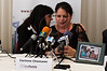 Corinne Hamami consoles Dalia Falistian at a press conference. Both women lost their loved ones at the Park Hotel massacre, the deadliest terror attack in the Second Intifada that claimed 30 lives and injured 140 on Passover Eve. Netanya, Israel. 27-Mar-2012.
