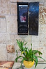 A small memorial corner in the lobby of the Park Hotel commemorates slain hotel General Manger Amiram Hamami, killed in the Park Hotel Passover massacre of 2002. Netanya, Israel. 27-Mar-2012.