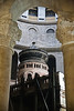 The tomb of Jesus in the Rotunda at the Church of the Holy Sepulchre. Jerusalem, Israel. 5-Apr-2012.