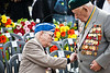 Two very decorated World War II veterans prepare to take part in the Wreath-Laying Ceremony on Holocaust Martyrs' and Heroes' Remembrance Day in the Warsaw Ghetto Square at Yad-Vashem. Jerusalem, Israel. 19-Apr-2012.