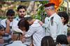 IDF Chief of Staff, Lieutenant General, Benny Gantz, tries to comfort family of Lieutenant Hila Betzaleli, 20, killed just last week. Jerusalem, Israel. 22-Apr-2012.