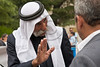 Sheik Sayach Al-Turi, of the unrecognized Bedouin village of Al-Arakib in the Negev, argues his case with hand gestures. Jerusalem, Israel. 29-Apr-2012.