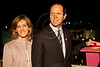 Jerusalem Mayor Nir Barkat and wife Beverly initiate this years Komen's Race for the Cure (May 3rd) lighting up the walls of the Old City in pink, as viewed from the David Citadel Hotel. Jerusalem, Israel. 1-May-2012.