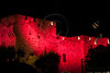 King David Citadel and Old City walls are illuminated in pink following initiation of this years Komen's Race for the Cure (May 3rd). Jerusalem, Israel. 1-May-2012.