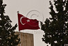 Turkish flag flies high above Consulate General in Sheikh Jarrah Neighborhood. Jerusalem, Israel. 2-May-2012.