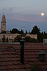 The biggest full moon of 2012, called the 'Supermoon' or perigee full moon, rises over the Hagia Maria Sion Abbey on Mt. Zion and rooftops of Yamin Moshe neighborhood. Jerusalem, Israel. 5-May-2012.