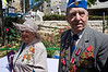 WWII veterans from around the country assemble in Jerusalem for a colorful march, many in their WWII uniforms with medals, decorations and grandchildren, celebrating Allied victory over Nazi Germany.