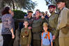 Old friends, veterans of World War Two, meet each other and show off their grandchildren as hundreds from around the country assemble in Jerusalem for a colorful march celebrating Allied victory over Nazi Germany. Jerusalem, Israel. 9-May-2012.