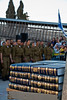 A stack of bibles awaits distribution to soldiers of the Golani Brigade after they swear allegiance to state and IDF in a ceremony about to begin. Bibles are also customarily awarded at school graduations thus most Israeli families have a collection. Jerusalem, Israel. 10-May-2012.<br />  <br /> Two months into their service Golani Brigade basic trainees swear allegiance to the state and the IDF in a ceremony at the Western Wall. Golani, associated with the Northern Command, is one of the most highly decorated infantry units in the IDF.