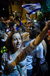 Ethiopians take part in the social justice demonstration demanding an end to what they claim is racial discrimination against them in Israeli society. Jerusalem, Israel. 12-May-2012.