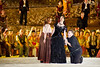 Israeli Opera performs Carmen in a full dress rehearsal with a cast of hundreds, conducted by Daniel Oren and featuring internationally acclaimed performers in the largest production ever staged in Israel. Massada, Israel. 6-June-2012.