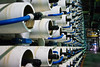 Over six thousand pressured cylinders containing eight filters each, separate salt from water using reverse osmosis at Ashkelon desalination plant, second largest of its type in the world, producing 118 million cubic meters of drinking water annually. Ashkelon, Israel. 13-June-2012.