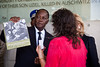 President of Ivory Coast, Alassane Ouattara, is presented with the book To Bear Witness as a memento of his visit to Yad Vashem Holocaust Museum with wife Dominique Quattara. Jerusalem, Israel. 17-June-2012.