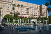 King David Hotel poolside view. Jerusalem, Israel. 19-June-2012.