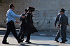 Policemen use warnings and reasonable force to clear rioting Haredim from the Prophets' Road to open it to traffic. Jerusalem, Israel. 23-June-2012.