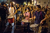 Drummers lead protesters as they leave Paris Square and head downtown. Jerusalem, Israel. 24-June-2012.