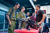 Soldiers of the IDF show interest in a display of firearms at Combat 2012 trade fair. Tel-Aviv, Israel. 26-June-2012. <br /> <br /> Homeland Security and Combat international exhibitions open at Israel Trade Fairs Center for three days, sponsored by the Ministry of Trade and Industry in cooperation with IHS Jane's Defense & Security Intelligence & Analysis.