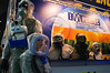 Mannequins wearing chemical and biological hazard protection suits displayed at Combat 2012 trade fair. Tel-Aviv, Israel. 26-June-2012. <br /> <br /> Homeland Security and Combat international exhibitions open at Israel Trade Fairs Center for three days, sponsored by the Ministry of Trade and Industry in cooperation with IHS Jane's Defense & Security Intelligence & Analysis.