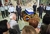 Thousands expected to pay last respects to former PM and Head of Mossad, Yitzhak Shamir, as his coffin is presented in the Knesset lobby before being laid to rest this afternoon in the Leaders of Israel Section at Mount Herzl. Jerusalem, Israel. 2-July-2012.