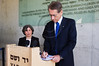Coming out of the Children's Memorial Hall, Italian Foreign Minister Gulio Terzi, signs the guest book at Yad Vashem Holocaust Museum. Jerusalem, Israel. 5-September-2012.<br /> <br /> Italian FM Gulio Terzi visits Yad Vashem Holocaust Museum. The Foreign Minister toured the museum, participated in a memorial ceremony and signed the museum guest book.