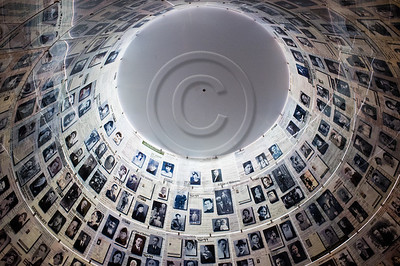 Pages of Testimony displayed on the ceiling of the Hall of Names at Yad Vashem. Jerusalem, Israel. 5-September-2012.  Italian FM Gulio Terzi visits Yad Vashem Holocaust Museum. The Foreign Minister toured the museum, participated in a memorial ceremony and signed the museum guest book.