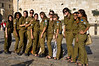"A group of female IDF soldiers pose for a photo at the Western Wall. Jerusalem, Israel. 10-September-2012. <br /> <br /> Hibakusha, survivors of the August 6th, 1945 bombing of Hiroshima, visit Israel to promote  nuclear abolition. Calling ""No More Hiroshimas, No More Nagasakis!"" they place their prayers between the Kotel stones."