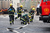 Firefighters demonstrate quick emergency deployment, firefighting and evacuation as Jerusalem Fire Brigade opens its doors to the public. <br /> Jerusalem, Israel. 2-October-2012.<br /> <br /> Jerusalem Fire Brigade opens its doors to the public at Givat Mordechai Station enabling the public to see the work of firefighters from up close. The Jerusalem Fire Brigade annually responds to over 8,000.