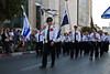 A delegation from El-Al, Israel's leading airline, takes part in the annual Sukkoth Jerusalem Parade. Jerusalem, Israel. 4-October-2012.<br /> <br /> An estimated ten thousand people march in the annual Jerusalem Parade including participating delegations from around the world, Israeli industry, banks and military personnel.