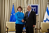 President Shimon Peres and Catherine Ashton, High Representative of the European Union, shake hands at the onset of a meeting for discussions on regional issues. Jerusalem, Israel. 24 October 2012. <br /> <br /> The President of the State of Israel, Shimon Peres, meets with Baroness Catherine Ashton, the High Representative for Foreign Affairs and Security Policy of the European Union at the President's Residence.
