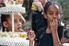 Young children enjoy refreshments in the garden of the President's Residence prior to a ceremony opening the Sigd festivities in the President's Residence. Jerusalem, Israel. 31-Oct-2012.<br /> <br /> President Peres opens the Sigd festivities, hosting children and dignitaries from the Jewish Ethiopian community, Beta-Israel, at his residence. The Sigd symbolizes Beta-Israel's yearning for Jerusalem while living in seclusion for over 1,000 years.