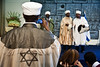 Kessim, Jewish Ethiopian religious leaders, sing at a ceremony opening the Sigd festivities in the President's Residence. Jerusalem, Israel. 31-Oct-2012.<br /> <br /> President Peres opens the Sigd festivities, hosting children and dignitaries from the Jewish Ethiopian community, Beta-Israel, at his residence. The Sigd symbolizes Beta-Israel's yearning for Jerusalem while living in seclusion for over 1,000 years.