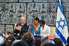 Israeli President Shimon Peres holds a public discussion with Ethiopian youth who tell of their plight assimilating into Israeli society at a ceremony opening the Sigd festivities at the President's Residence. Jerusalem, Israel. 31-Oct-2012.<br /> <br /> President Peres opens the Sigd festivities, hosting children and dignitaries from the Jewish Ethiopian community, Beta-Israel, at his residence. The Sigd symbolizes Beta-Israel's yearning for Jerusalem while living in seclusion for over 1,000 years.