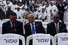 Helawe Yosef (C), Ethiopian Ambassador to Israel, takes part in the Sigd Festival. Jerusalem, Israel. 14-Nov-2012. <br /> <br /> The Jewish Ethiopian community in Israel, Beta-Israel, celebrates the Sigd Holiday, symbolizing their yearning for Jerusalem for thousands of years, at the Sherover Promenade overlooking the Temple Mount.