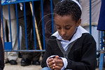 Young Jewish Ethiopian boys take part in the Sigd Festival. Jerusalem, Israel. 14-Nov-2012.  The Jewish Ethiopian community in Israel, Beta-Israel, celebrates the Sigd Holiday, symbolizing  ...