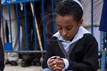 Young Jewish Ethiopian boys take part in the Sigd Festival. Jerusalem, Israel. 14-Nov-2012.  The Jewish Ethiopian community in Israel, Beta-Israel, celebrates the Sigd Holiday, symbolizing  ...