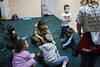 A small Ashkelon hotel with a huge underground shelter has been transformed into a daycare center for children while schools are closed due to incoming missiles launched from Gaza and allowing parents to attend work without worry. Ashkelon, Israel. 19-Nov-2012.