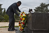 """President of Togo, Faure Essozimna Gnassingbe, on an official four-day visit to Israel, lays a wreath at the gravesite of Theodor Herzl, the """"Visionary of the State of Israel"""". Jerusalem, Israel. 27-Nov-2012."""