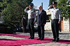 Israeli President Shimon Peres is welcomed by an honor guard in the garden of the President's Residence prior to the arrival of President of Togo, Mr. Faure Essozimna Gnassingbe. Jerusalem, Israel. 28-Nov-2012.<br /> <br /> President Shimon Peres hosts an official state welcoming reception for the President of Togo, Mr. Faure Essozimna Gnassingbe, at the President's Residence in Jerusalem.